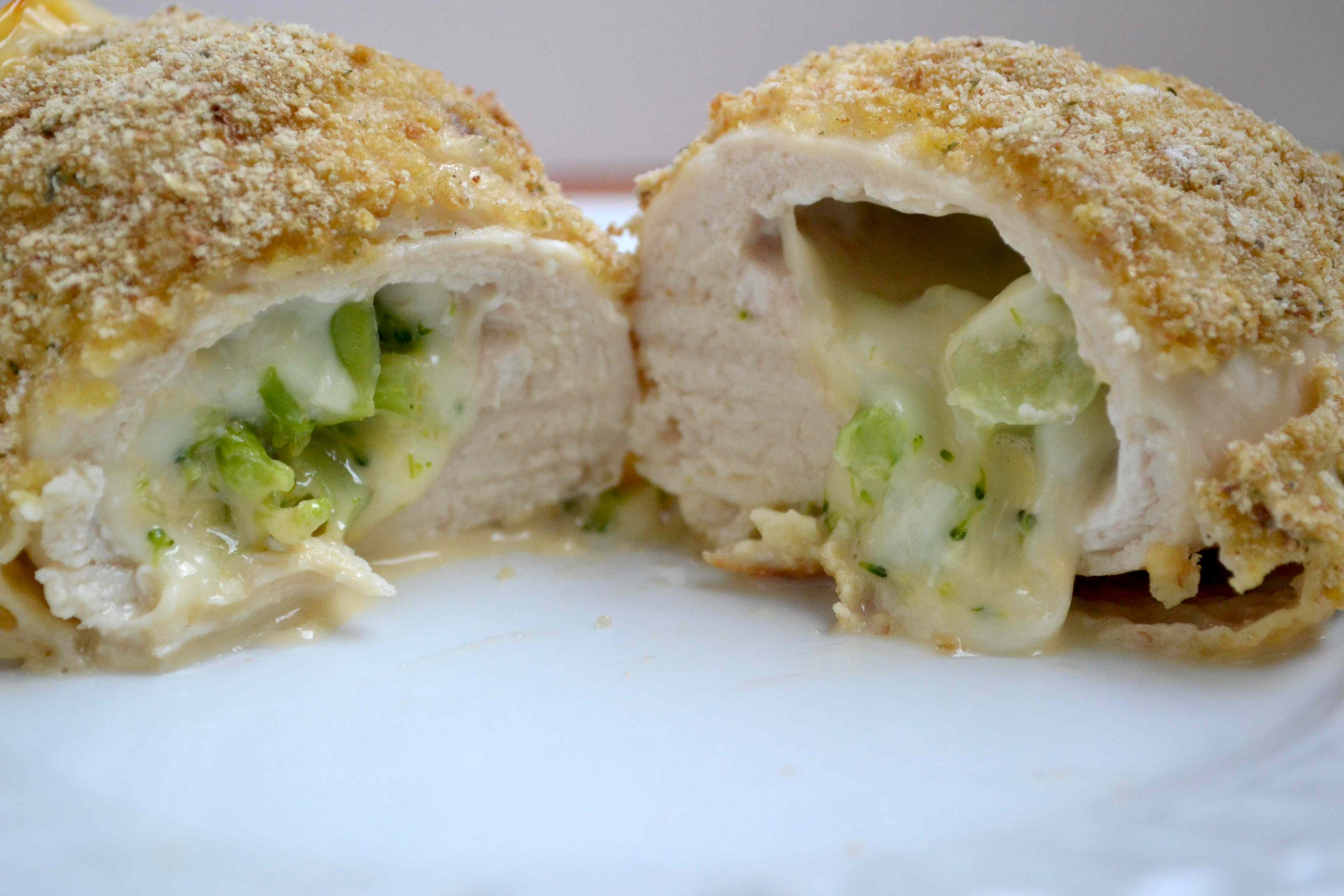 Broccoli and Cheese Stuffed Chicken – Measuring Cups, Optional