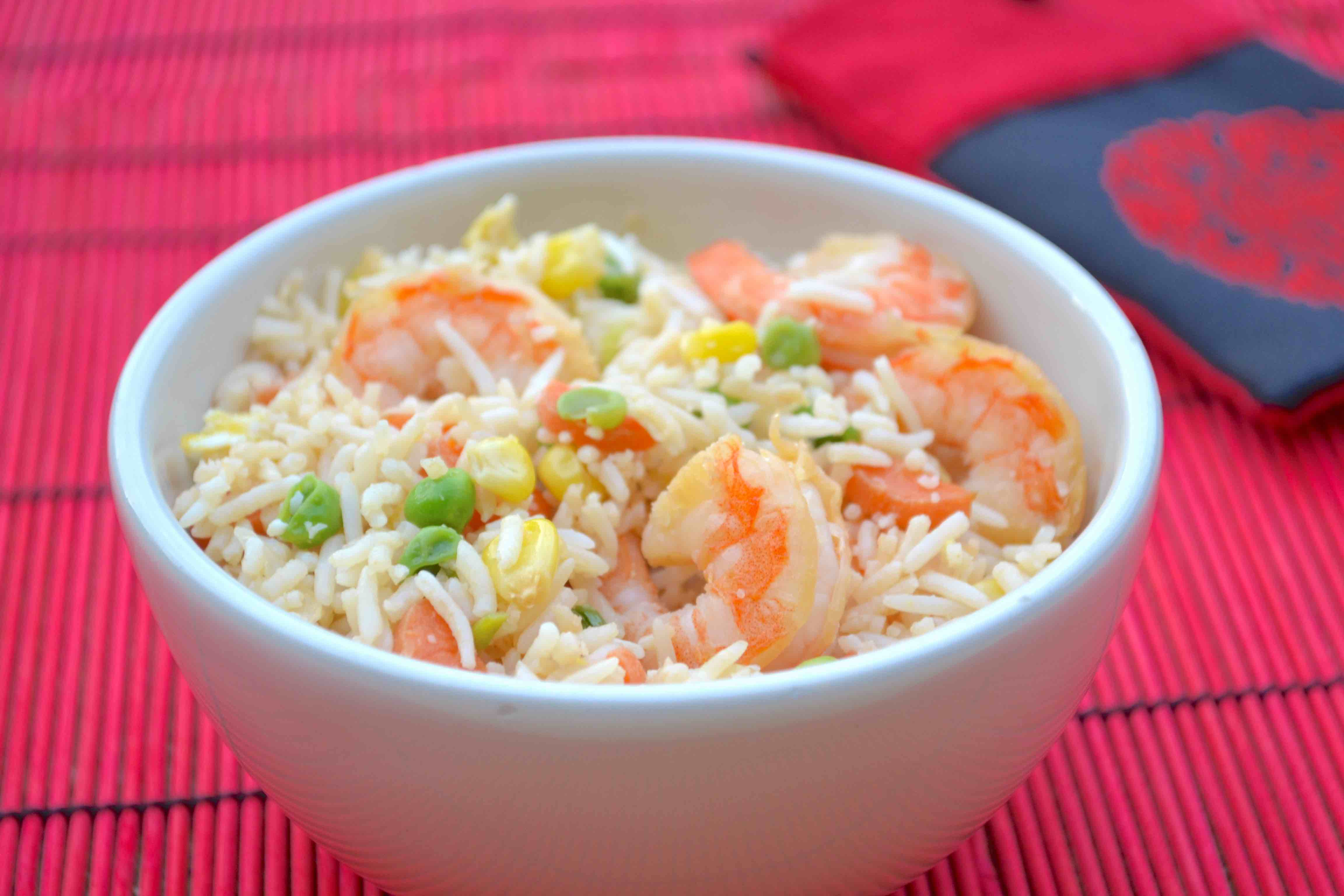 yum shrimp fried rice ingredients 3 cups white rice already cooked ...